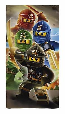 Lego Ninjago 'Quadrant' Warriors Cotton Beach Bath Towel Boys Childrens Holiday