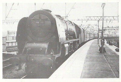 46250 City Of Lichfield Train with Comet at Manchester Railway Station Postcard