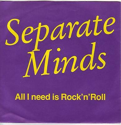 """7"" - SEPARATE MINDS - All I need is Rock`n Roll - RAR"