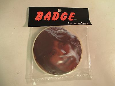 "Rare 1973 Rolling Stones' MICK JAGGER 3"" Photo BADGE/Pin MIP"