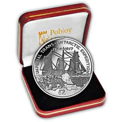 South Georgia 2017 Imperial Trans-Antarctic Expedition - Endurance Silver Coin
