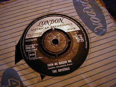 """The Crystals, Then He Kissed Me ,7"""" Vinyl"""