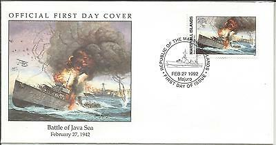 Arcade 99p 1992 Marshall Is Battle of the Java Sea 1942 FDC