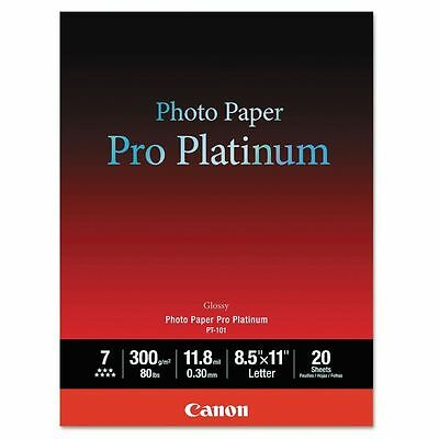 "Canon Pro Platinum Glossy Photo Paper 8.5x11"" 20 Sheets NEW"