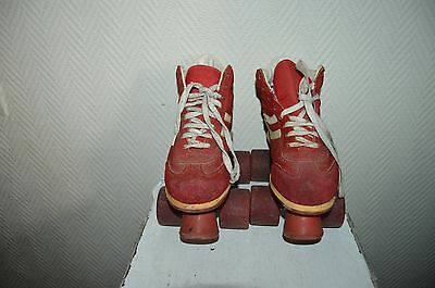 Patin A  Roulette Quad  Taille  34/35 Roller Skate Vintage Holy
