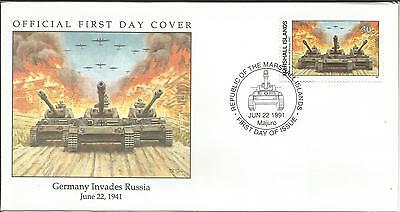 Arcade 99p Marshall Is 1991 Germany Invades Russia 1941 FDC