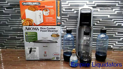 SodaStream Sparkling Water Maker Starter & Aroma 14-Cup Rice Cooker & Toaster