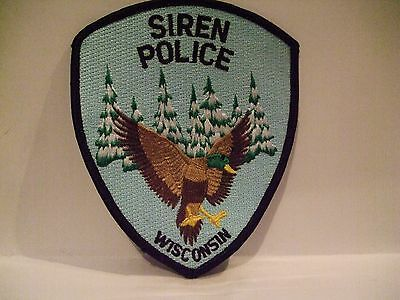 police patch    SIREN POLICE WISCONSIN