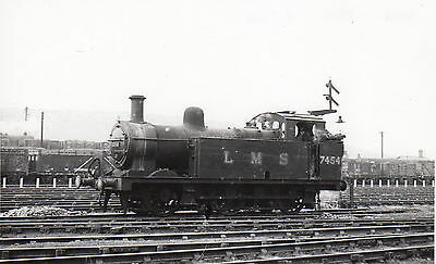 Photo LMS Class 3F 0-6-0T No 7454  seen at Toton shed yard on 8/7/48 HCC