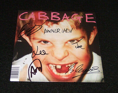 """Cabbage """"Dinner Lady"""" Limited 7"""" Vinyl Single. New. Rare. Unplayed. SIGNED!!"""