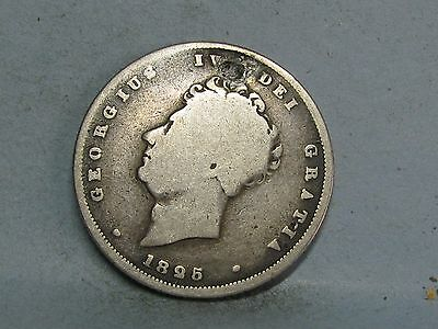 George Iv  Silver Shilling Coin Dated 1825