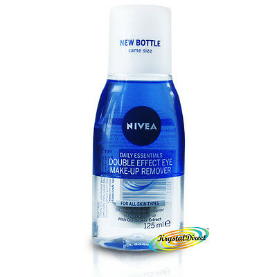 Nivea Daily Double Effect Waterproof Eye Mascara Make Up Remover 125ml