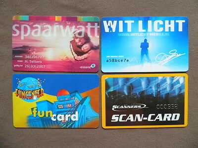 4 Magnetic Cards used ( No phonecards )