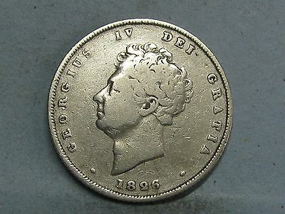 George Iv  Silver Shilling Coin Dated 1826 (3)