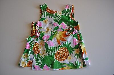 Vintage Nalii Honolulu Size 6 Summer Top Floral 100% Cotton