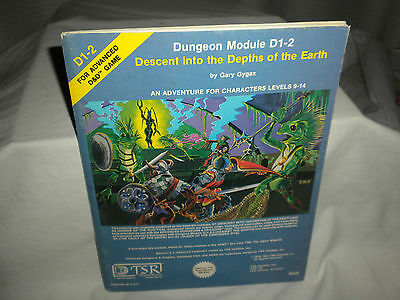 VTG TSR Dungeon Module D1-2 DESCENT Into The DEPTHS of the EARTH #0935696601