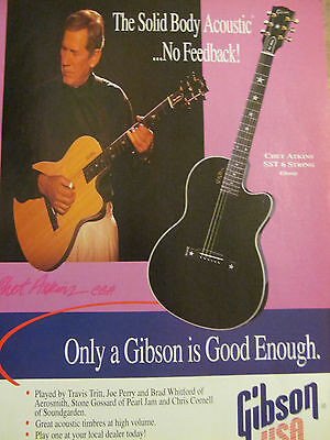 Chet Atkins, Gibson Guitars, Full Page Promotional Ad