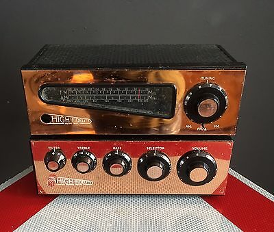 Classic Pye Hf/10 Mozart Amp And Hft 113M Tuner Untested