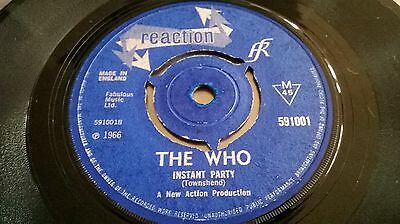"The Who - Substitute B/w Instant Party Uk Withdrawn 7"" Reaction 1966"