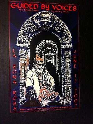 Guided By Voices EARLY My Morning Jacket Rare Original Austin TX Concert Poster