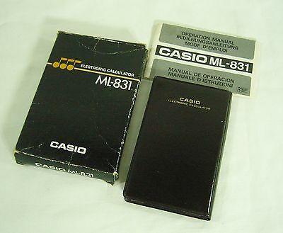 Casio ML 831 - Vintage Musical Calculator from Casio - boxed