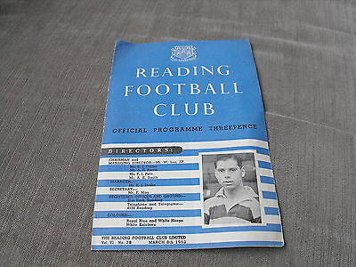 READING v PLYMOUTH ARGYLE 8/3/52, DIVISION 3 (SOUTH)