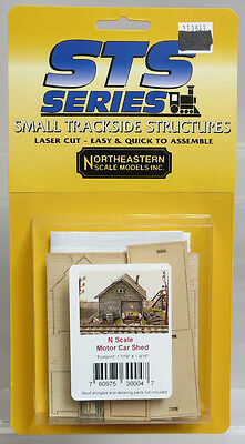 Northeastern Scale Models Small Trackside Structures N Scale Motor Car Shed Kit