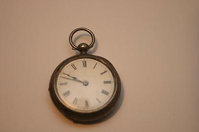 A Solid Silver Pocket Watch 1885 The Star Not working