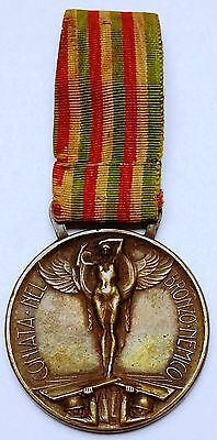 1915-1918 WWI Italy War Medal - Bronzo Nemico - Superb Condition