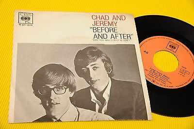 """Chad And Jeremy 7"""" Before And After Orig Italy 1963 Nm !!! Tooopppppppp"""