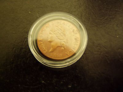 1861 Confederate States of America One Cent Restrike Coin