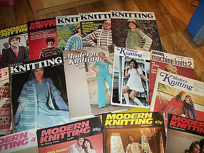 28 x MODERN knitting magazine for machine knitters MANY FROM THE 70's VINTAGE