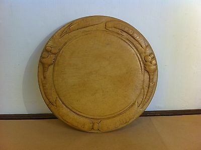 LOVELY DECORATIVE ANTIQUE CARVED SYCAMORE BREAD BOARD 11.7 inches