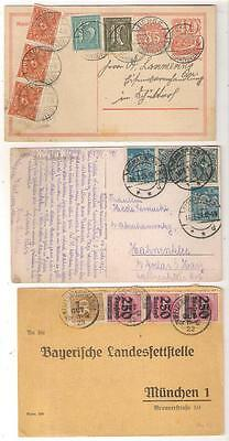 38162 Germany INFLATION period cards x 3 incl. Uprated Stationery card
