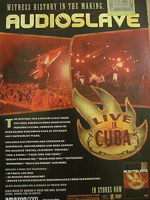 Audioslave, Live in Cuba, Full Page Promotional Ad