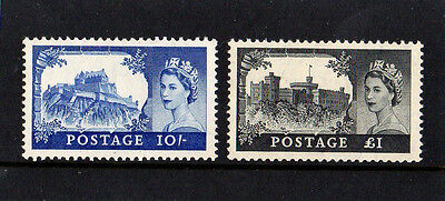 Gb 1955 Qe Ii Castles High Values S.g538 & S.g539 Mint Not Hinged Cat. £ 230.00