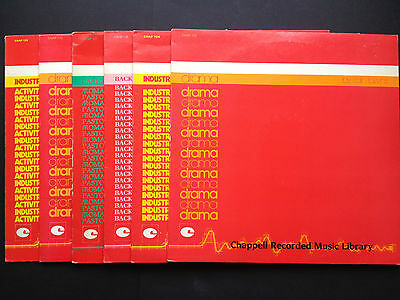 6x CHAPPELL Soundtrack Library TV LPs 80s COLIN TOWNS Eric Coates Robert Farnon