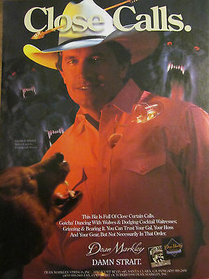 George Strait, Dean Markley Strings, Full Page Vintage Promotional Ad