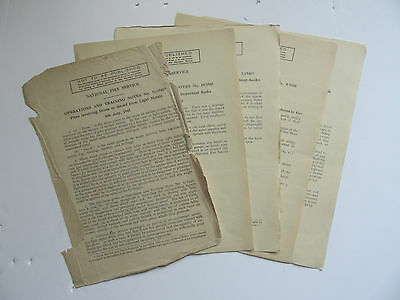 National Fire Service (NFS) Operations & Training Notes 1945/1946