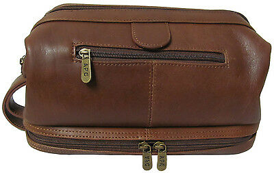 Amerileather Leather Toiletry Bag (#26-2)