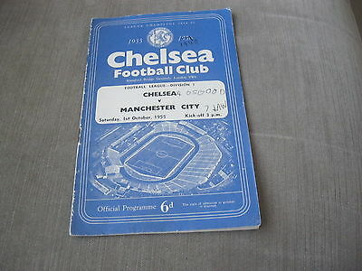 CHELSEA v MANCHESTER CITY 1/10/55, FOOTBALL LEAGUE DIVISION 1