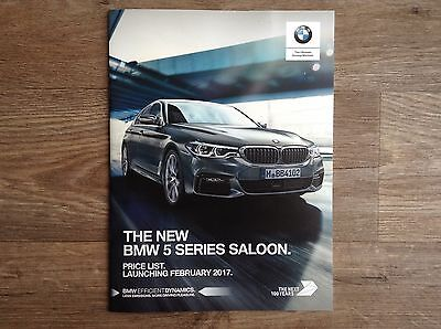 NEW 2017 BMW 5 Series Saloon Price List Brochure (23 pages)