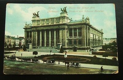 Postcard : Belgium, Antwerp, Musee Des Beaux Arts, Posted 1912 10 Centimes Stamp