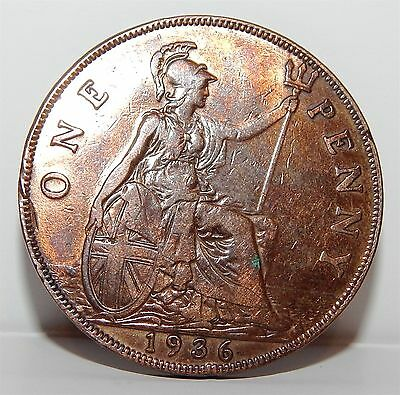 Last Penny Of King George V 1936 -  Very Fine Condition