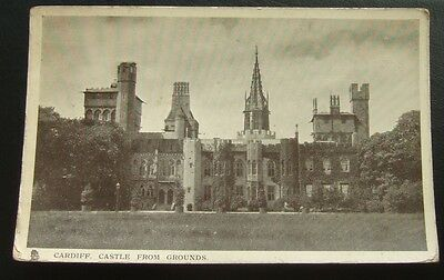 Postcard : Cardiff Castle From Grounds : Wales : Posted 1906
