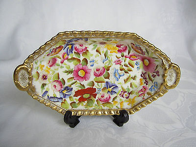 """Beautiful Hammersley Oval Dish- Handpainted  """"queen Anne"""" Pattern  13166T"""