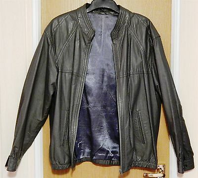 """""""classic Man Collection"""" - Gents Leather Jacket In Grey Size Ex Large"""