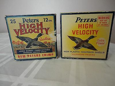 (2) Empty Peters High Velocity 12ga Shell Boxes