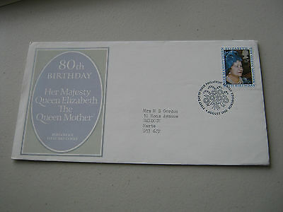 FDC - 1980 - 80th Birthday Queen Mother - with Bureau cancel (1735)