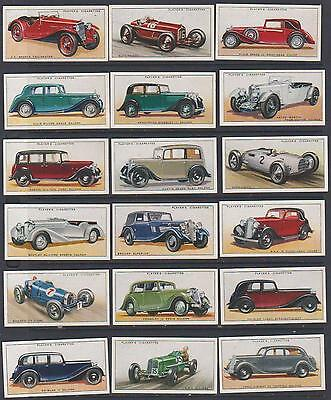 CIGARETTE CARDS Players 1936 Motor Cars